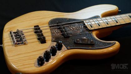 Pickgurad Fender jazz bass cuir et bronze 03