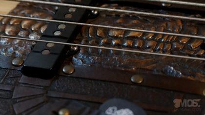 Pickgurad Fender jazz bass cuir et bronze 04